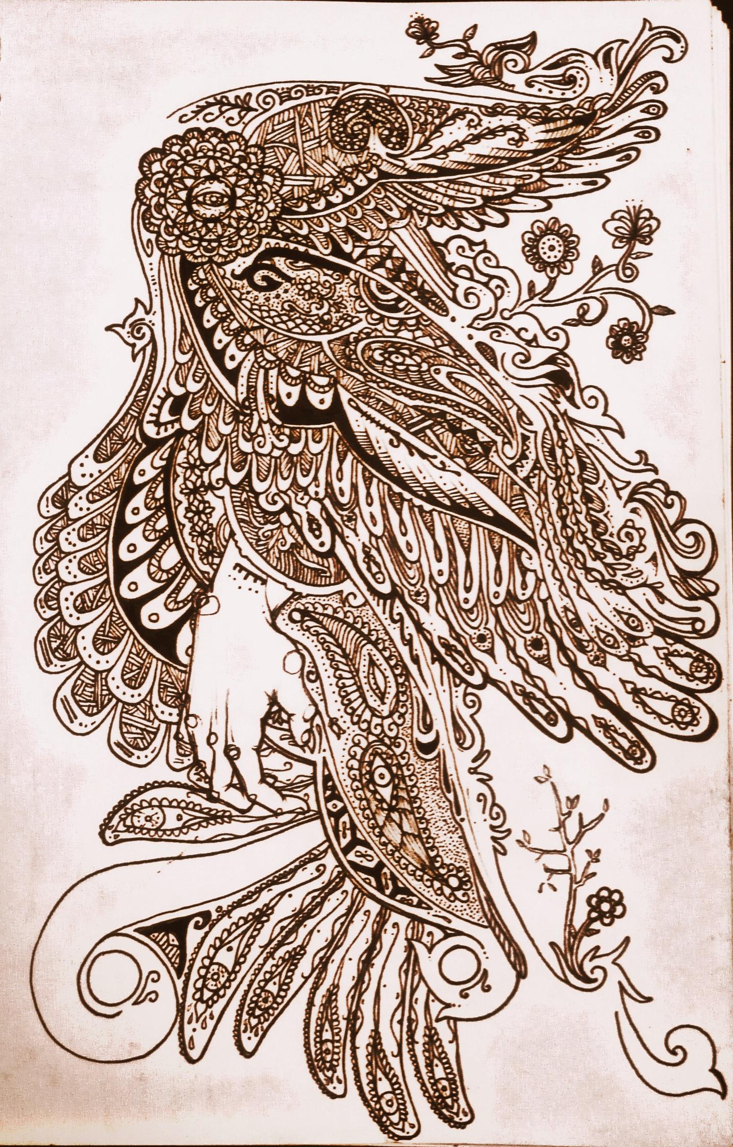 22 model henna bird drawing. Black Bedroom Furniture Sets. Home Design Ideas